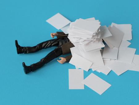 Foto de Concept, people swamped with paperwork - Imagen libre de derechos