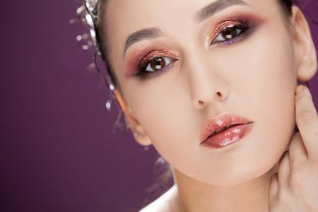 Foto de Beauty portrait of young attractive women - Imagen libre de derechos