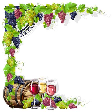 Ilustración de wine frame - Imagen libre de derechos