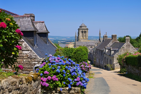 Photo for medieval village of Locronan, Brittany in France - Royalty Free Image