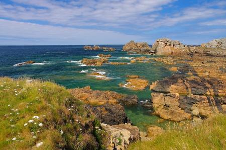Foto de Plougrescant  coast  in Brittany, France - Imagen libre de derechos