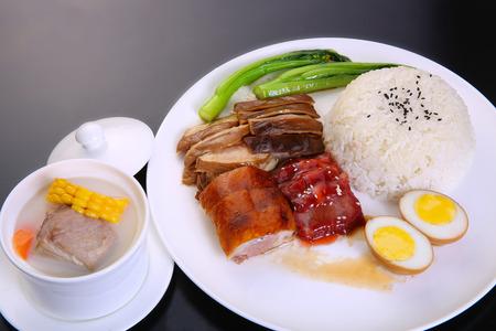 Foto de roaster duck with rice - Imagen libre de derechos