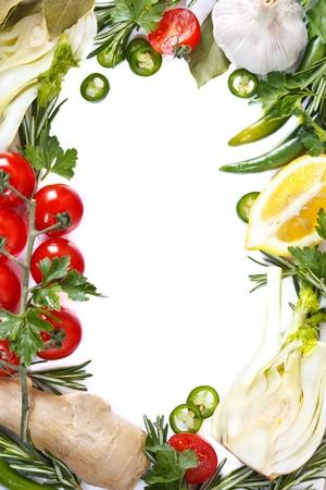 Beautiful fresh vegetable frame. Healthy food consept.