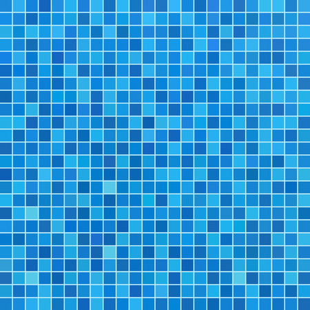 Illustration pour Blue ceramic tile mosaic in swimming pool - image libre de droit