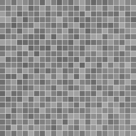 Ilustración de Gray ceramic tile mosaic in swimming pool - Imagen libre de derechos
