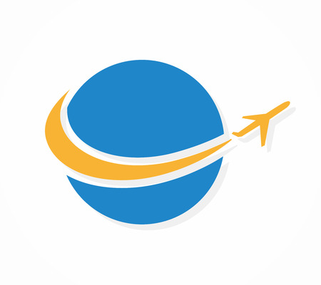 Ilustración de Vector logo design element with business card template. - Imagen libre de derechos