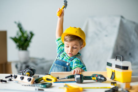 Photo for Little boy with tools - Royalty Free Image