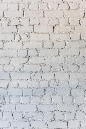 Photo pour white empty brick wall background - image libre de droit