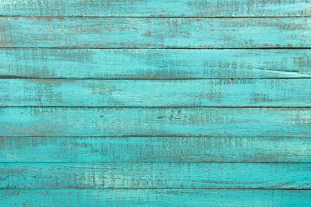 Photo pour decorative rustic turquoise wooden background with horizontal planks - image libre de droit