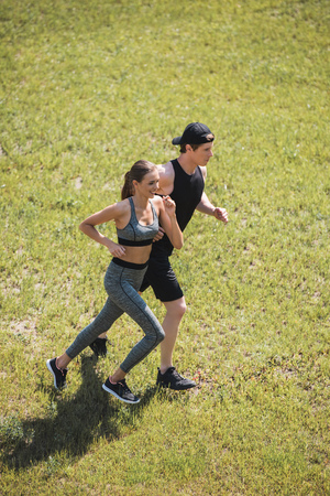 Foto für couple jogging in park - Lizenzfreies Bild