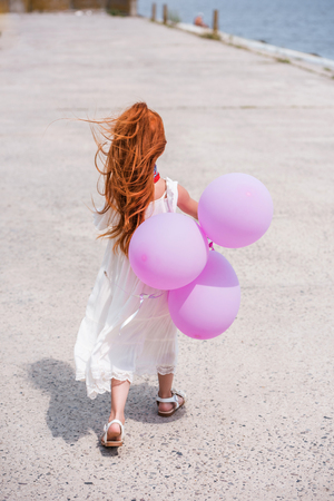 Photo for child with balloons - Royalty Free Image