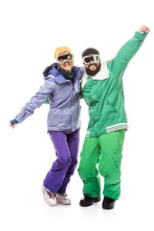 Foto de snowboarders in snowboarding glasses - Imagen libre de derechos