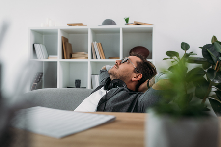 Photo for man relaxing at modern office - Royalty Free Image