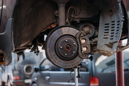 Foto de Car with exposed brake shoe - Imagen libre de derechos