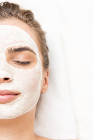 Photo for woman with facial mask - Royalty Free Image