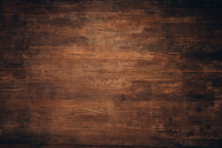 Photo for Wooden dark brown grungy background - Royalty Free Image