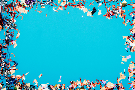 Photo pour frame made of confetti - image libre de droit