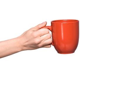 Photo pour person holding cup of coffee - image libre de droit