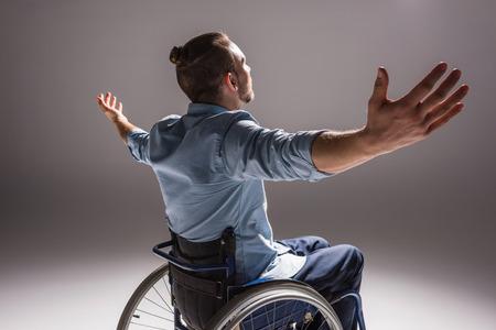 Foto de Disabled man with arms outstretched - Imagen libre de derechos