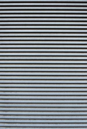 Foto de full frame of striped corrugated metal sheet texture - Imagen libre de derechos