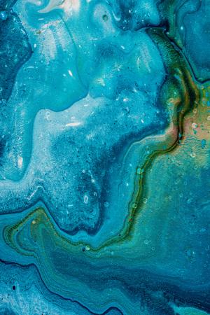 Photo pour close up of creative blue background with artistic paint  - image libre de droit
