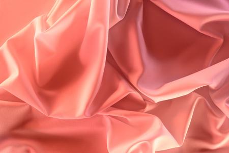 Photo pour close up view of elegant pink silky fabric as background - image libre de droit