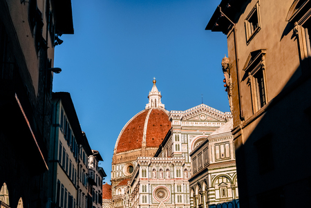 Photo for historic buildings and famous Basilica di Santa Maria del Fiore in Florence, Italy - Royalty Free Image