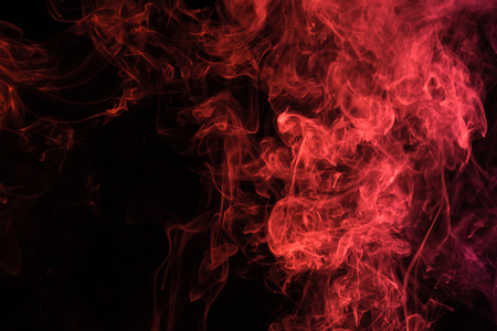 Photo for red spiritual smoke on black background with copy space - Royalty Free Image