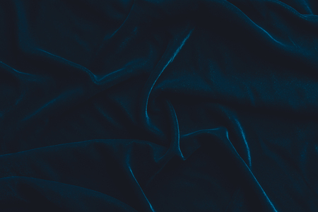 Photo pour Luxurious dark blue velvet fabric background - image libre de droit