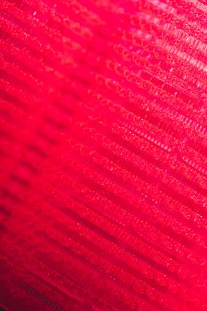 Photo pour macro shot of red hair curler texture - image libre de droit