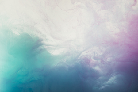 Photo for abstract light background with flowing blue and purple watercolor paint - Royalty Free Image
