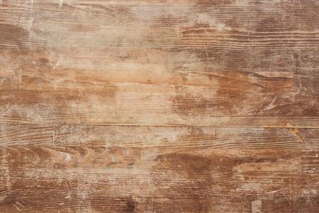 Photo pour Empty old brown wooden table background - image libre de droit