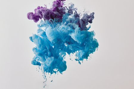 Photo for Background with purple and blue splash of paint - Royalty Free Image