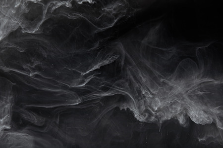 Photo for Abstract swirls of grey paint on black background - Royalty Free Image