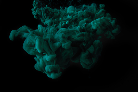 Photo for abstract dark texture with green splash of paint - Royalty Free Image
