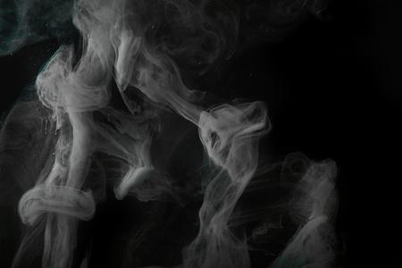 Photo for smoky grey swirls on black background - Royalty Free Image