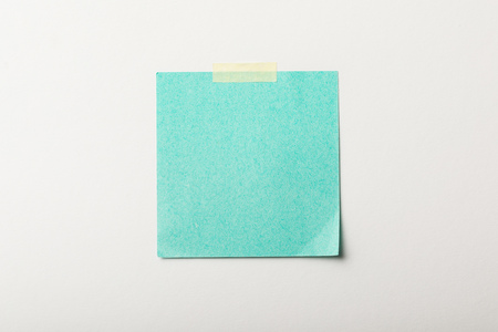 Photo for turquoise blank sticker with sticky tape on white background - Royalty Free Image
