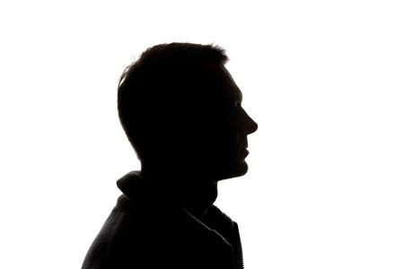 Photo pour Side view of pensive man isolated on white - image libre de droit