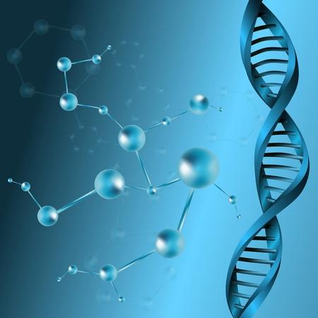 Illustration pour DNA molecule structure background  eps10 vector illustration - image libre de droit