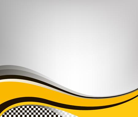 Ilustración de Waving checkered flag grey background, vector illustration - Imagen libre de derechos