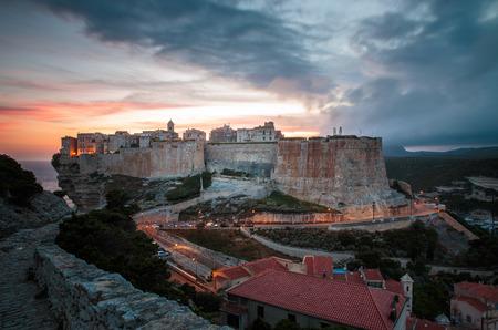 Foto de Gathering storm over military cemetery in Bonifacio, Corsica, France - Imagen libre de derechos