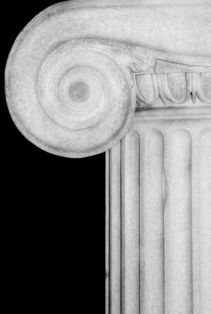 Detail of an Ionic column,