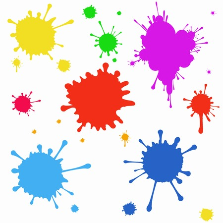 Ilustración de Vector set of colored blots on the white background - Imagen libre de derechos