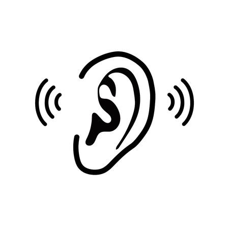 Illustration pour The human ear - vector illustration - image libre de droit