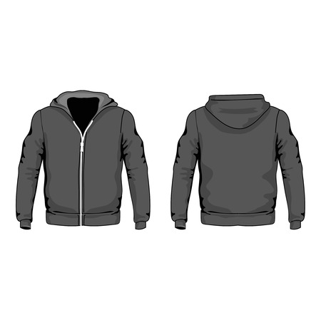 Men s hoodie shirts template front and back views vector