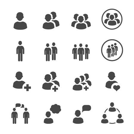 Illustration for people icon  vector set - Royalty Free Image