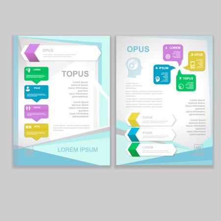 Illustration pour Vector Brochure Flyer design  Layout template. infographic - image libre de droit