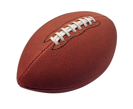 Football isolated on a white background as a professional sport ball for traditional American and Canadian game play on a white background