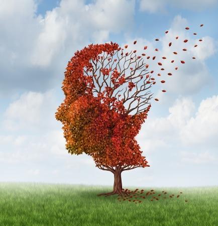 Foto de Brain disease with memory loss due to Dementia and Alzheimer - Imagen libre de derechos