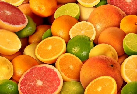 Photo for Citrus fruit background with a group of cultivated and harvested oranges lemons lime pomelo tangerines and grapefruit as a symbol of healthy eating and immune system boost eating fresh juicy health fruit full of natural vitamins  - Royalty Free Image